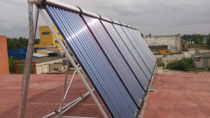 Saulės kolektoriai pastato šildymui