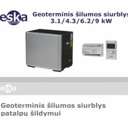 Geoterminis šilumos siurblys ESKA