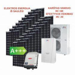 Saulės elektrinė 5,13 kW ir šilumos siurblys