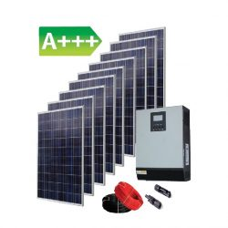 2,43 kW saulės elektrinės komplektas