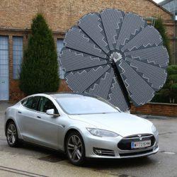 Saulės elektrinė elektromobilių įkrovimui