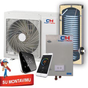 Šilumos siurblys oras vanduo CH-HM WiFi 8 kWsu boileriu