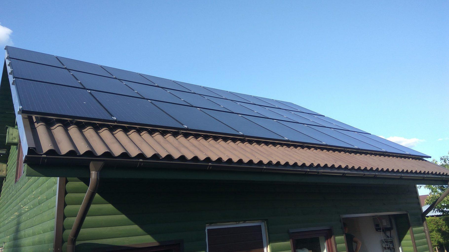 Švari energija saulės elektrinė