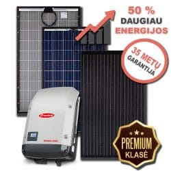 PREMIUM saulės elektrinės su dvipuse apskaita 3 - 10 kW