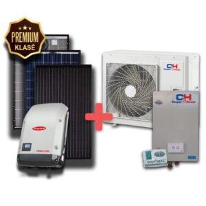 saulės elektrinė ir šilumos siurblys