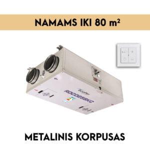 rekuperatorius iki 80m2 METALINIS KORPUSAS