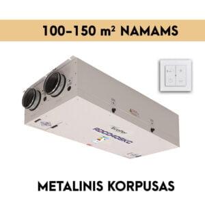 rekuperatorius namams 100-150 m2 METALINIS KORPUSAS
