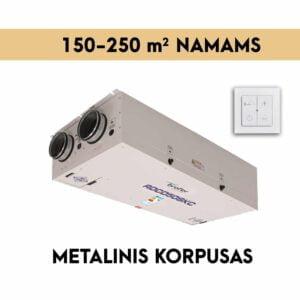 rekuperatorius namams 150-250 M2 METALINIS KORPUSAS