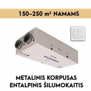 rekuperatorius namams 150-250 M2 METALINIS KORPUSAS entalpinis