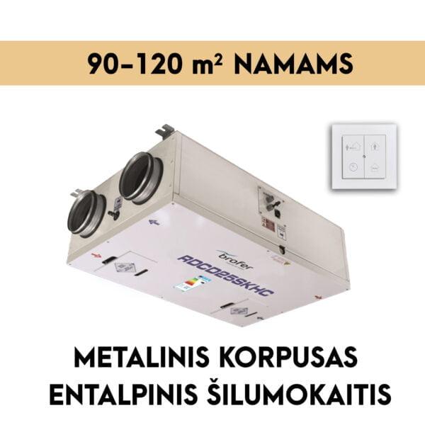 rekuperatorius namams 90-120 m2 METALINIS KORPUSAS ENTALPINIS